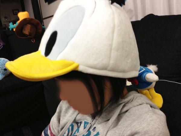 ドナルドダックの帽子!