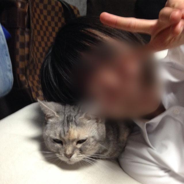 次女の笑顔と猫ちゃん