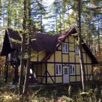 可愛いドイツ風の住宅