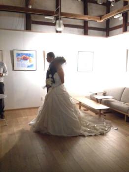 カフェで結婚式が出来るなんて、夢のよう