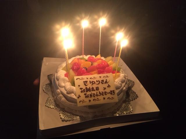 ケーキのサプライズ