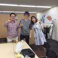 インターン生と芝山さゆりさんと早田宏徳さん